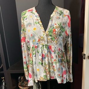 ZARA Boho top -Large